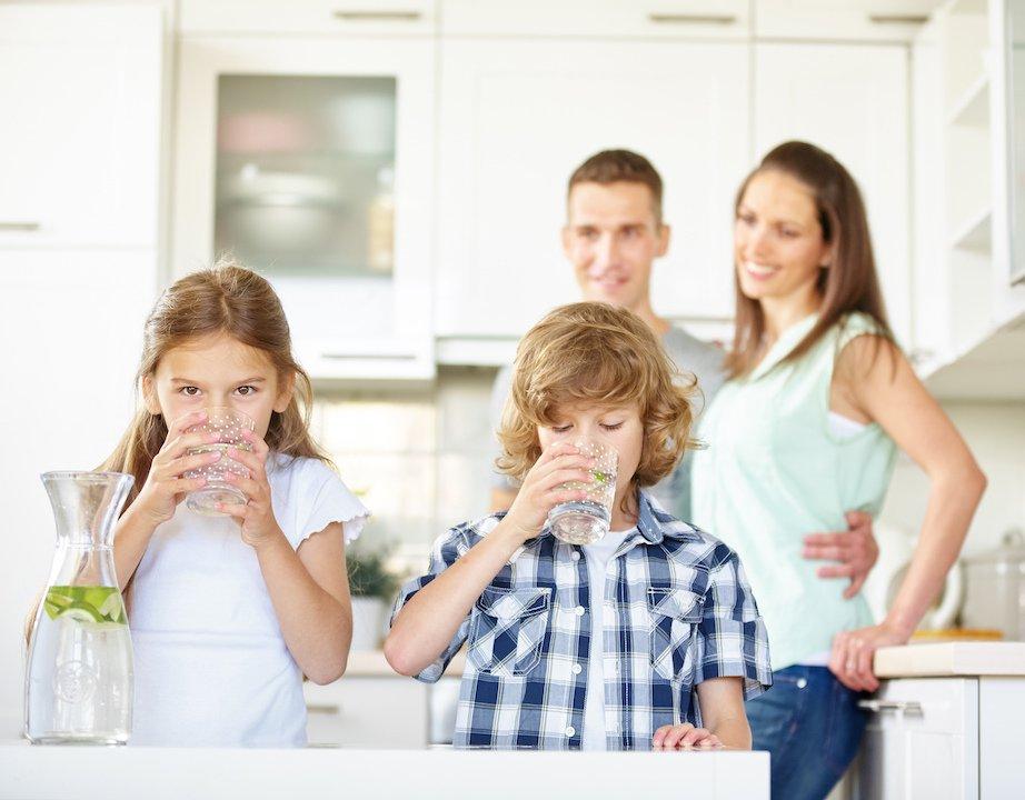 soluções de purificação de água doméstica